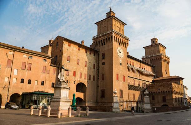The Estense castle in Ferrara in Italy stock photo