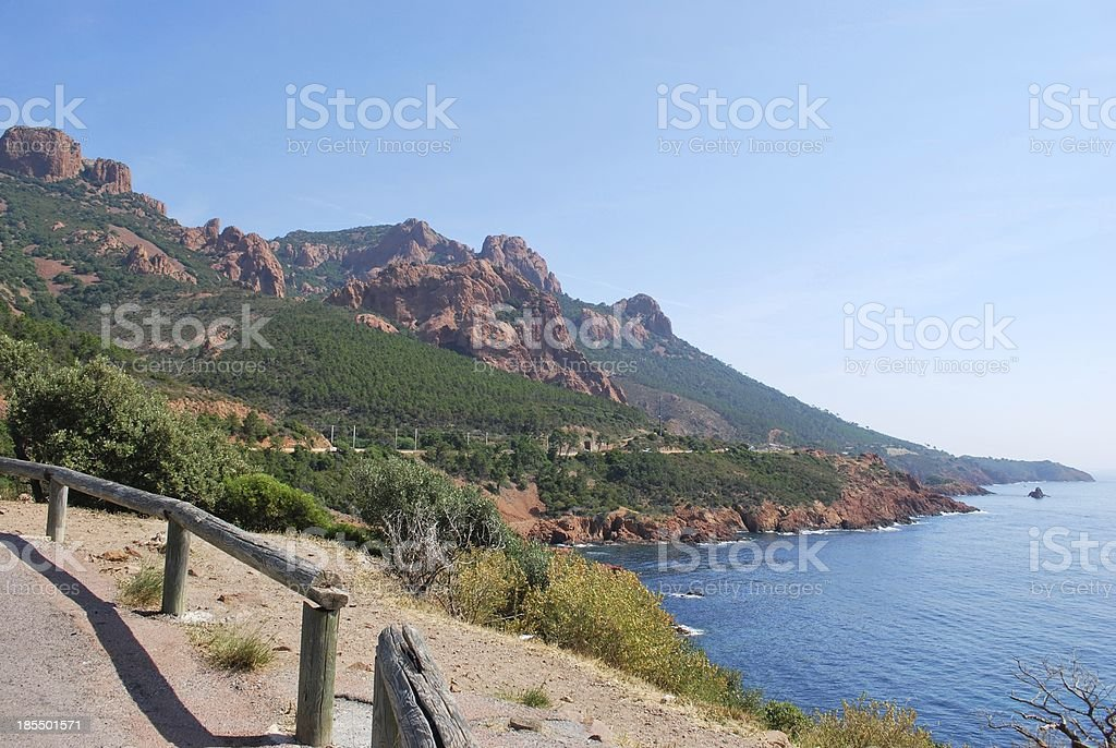 The Esterel Massif, France stock photo