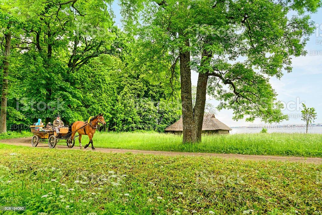 The Estonian Open air Museum stock photo