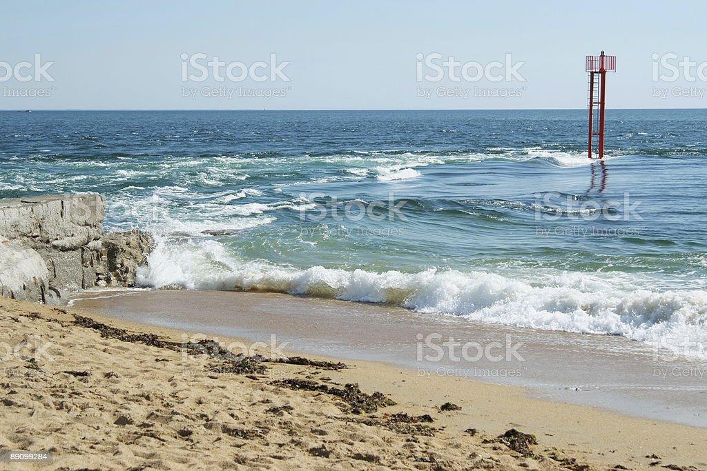 the Etel sandbar (France, Brittany South) royalty-free stock photo