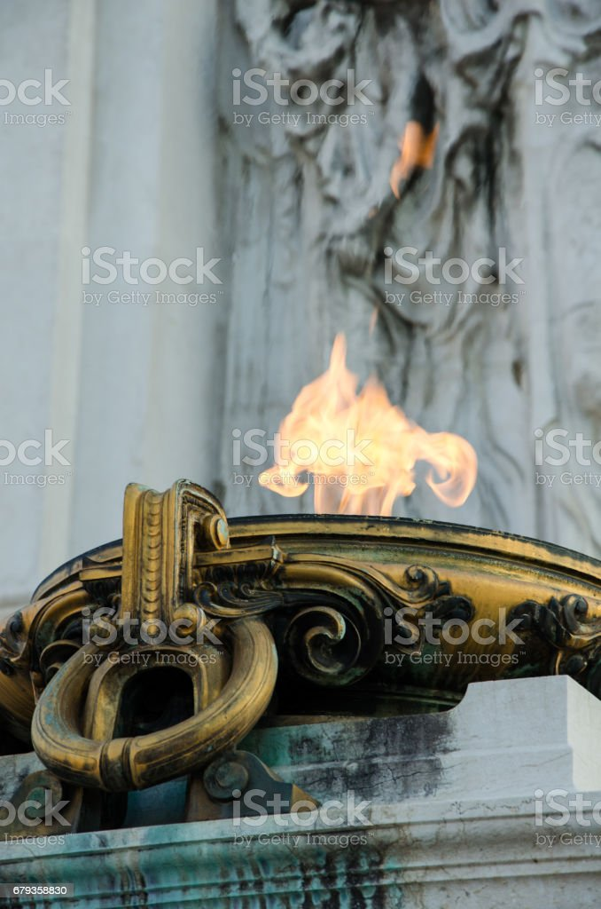 The eternal flame Rome Italy royalty-free stock photo