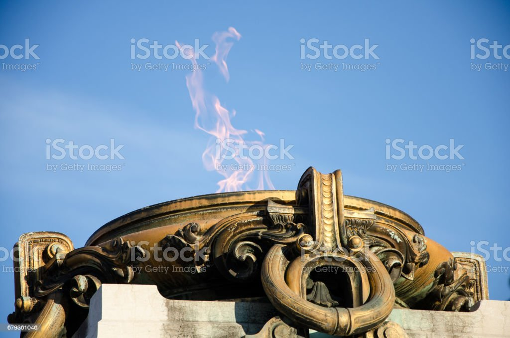 The eternal flame Rome Italy stock photo