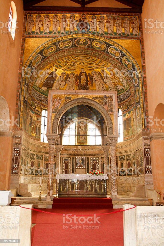 The Euphrasian Basilica of Porec on Croatia stock photo