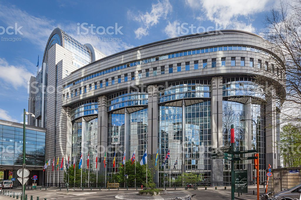 The European Parliament, Brussels stock photo