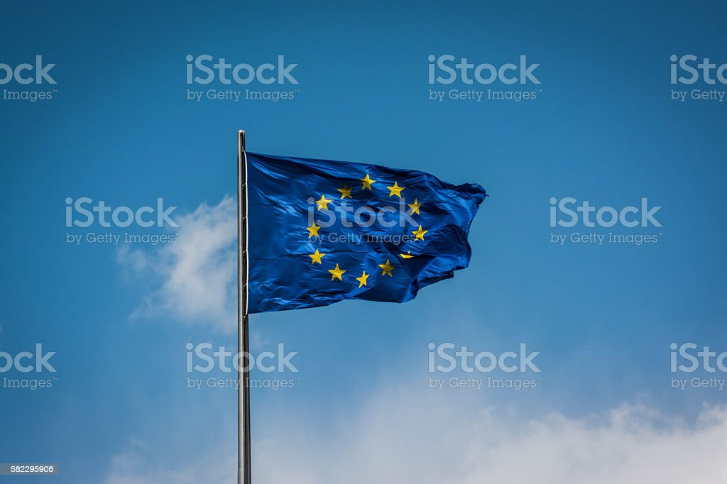 The European Union flag. stock photo