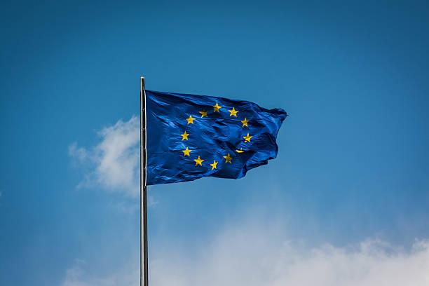 The European Union flag. stock photo