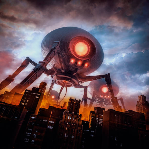 The eve of invasion stock photo