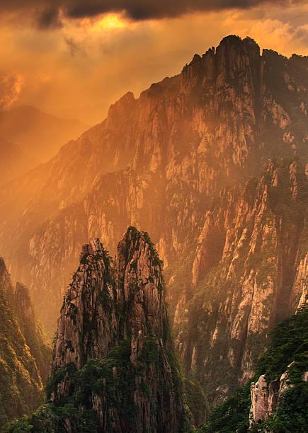 Die everning Mountain Huangshan – Foto