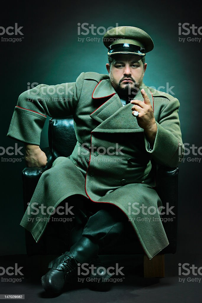 The evil dictator stock photo
