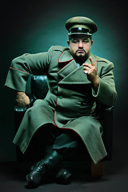 The evil dictator The evil dictator sitting in a chair major military rank stock pictures, royalty-free photos & images