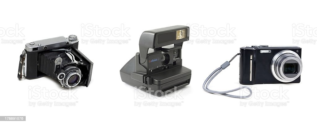 The evolution of cameras royalty-free stock photo