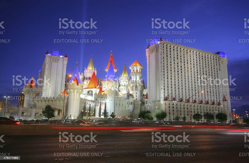 The Excalibur hotel and Casino in Las Vegas stock photo