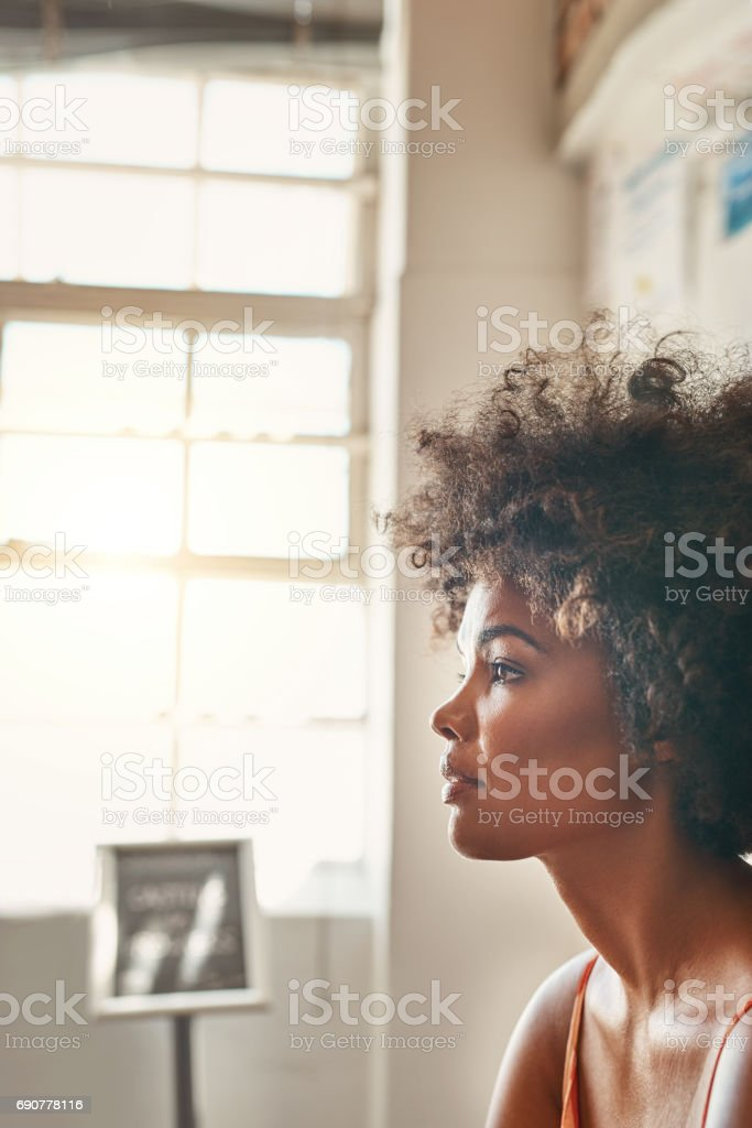 The excitement and nerves come together stock photo