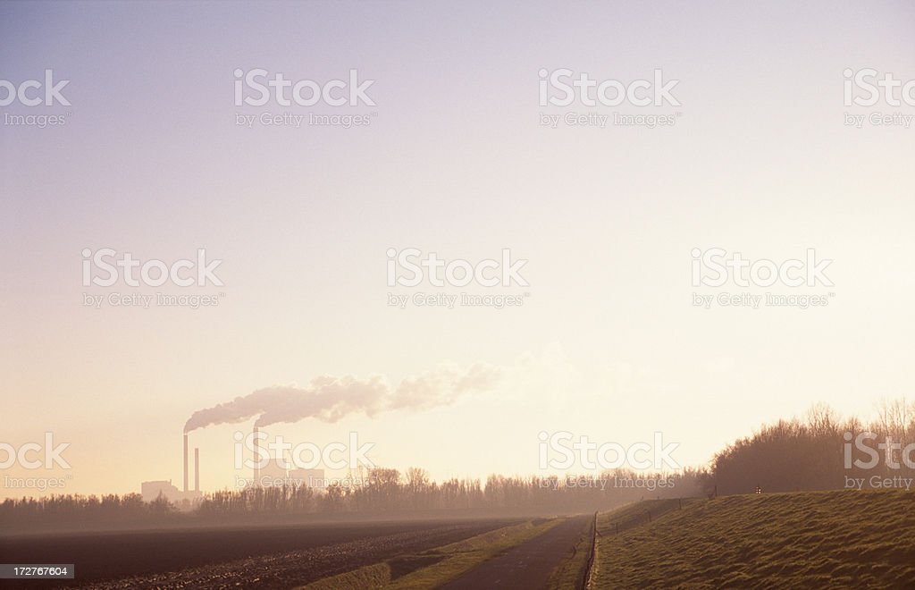 The exhaust pipes of an energy station royalty-free stock photo