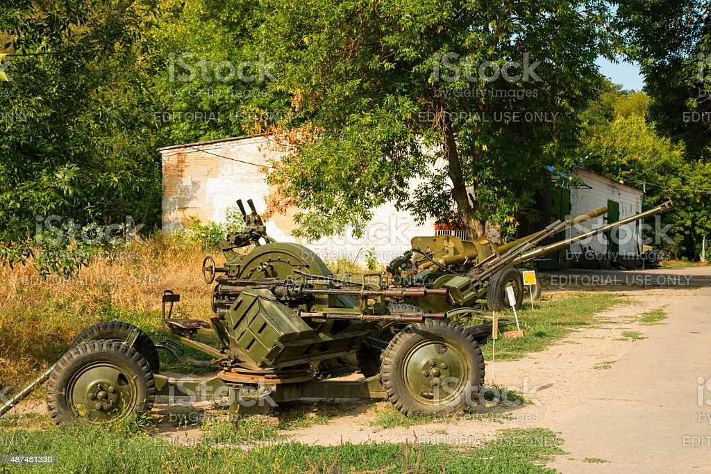 Rostov - on - Don, Russia - August 30, 2015: The exhibits of weapons...