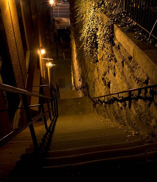 The Exorcist Steps of Prospect Street stock photo