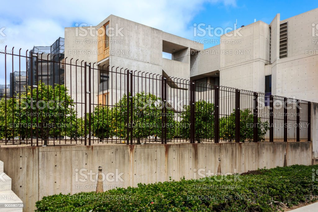 The exterior of Salk Institute for Biological Studies (UCSD). stock photo