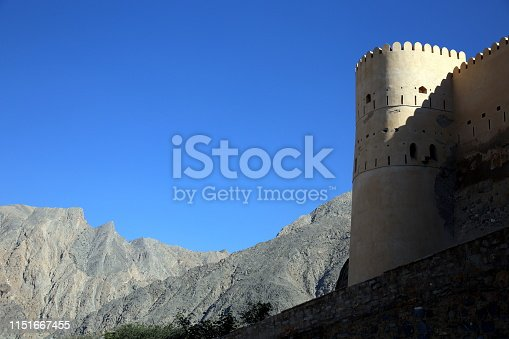 The exterior of the fortress, Nakhal, Oman