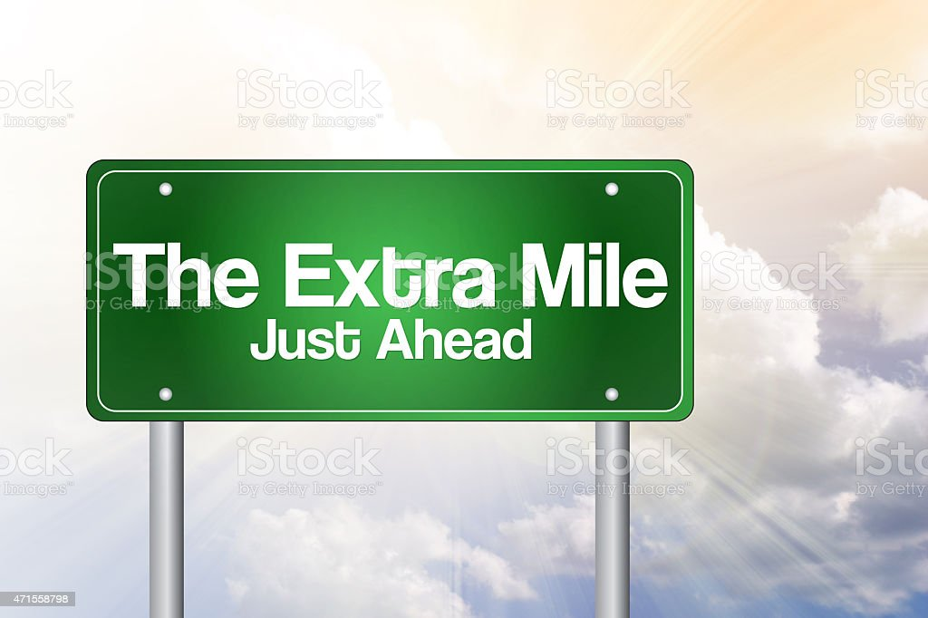 The Extra Mile stock photo