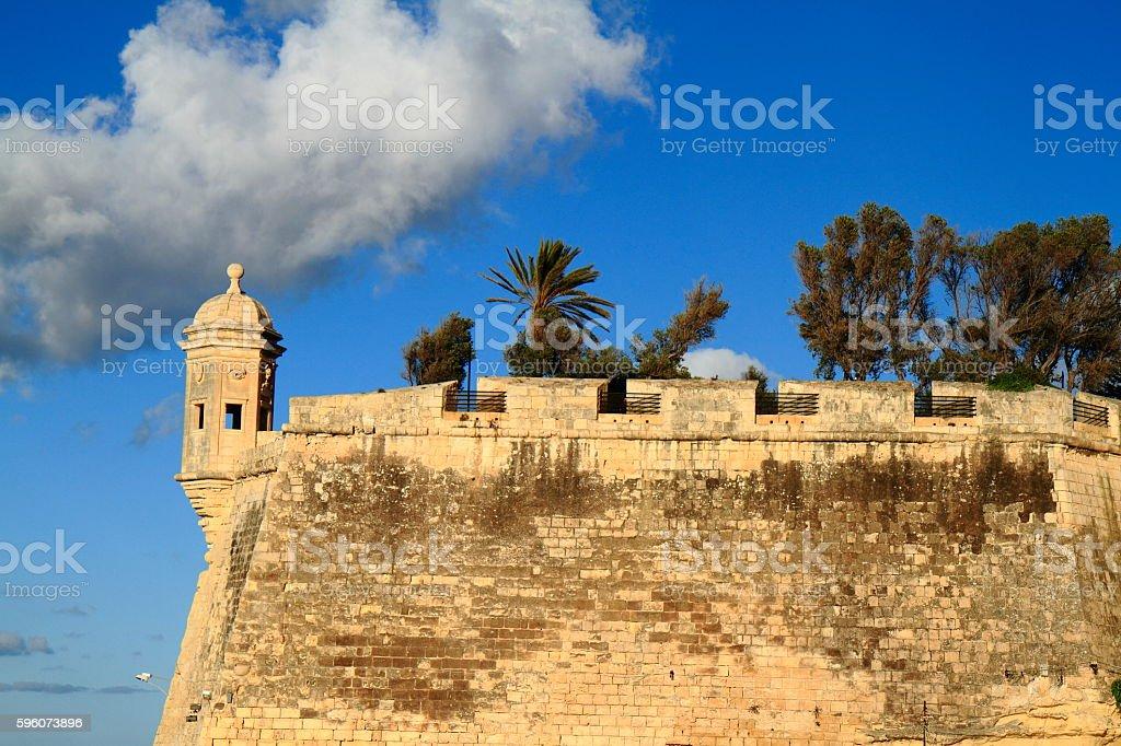The Eye & Ear Vedette Watchtower in Senglea, Malta royalty-free stock photo
