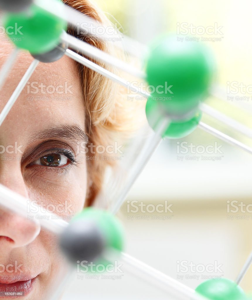 The Eye Of A Researcher royalty-free stock photo