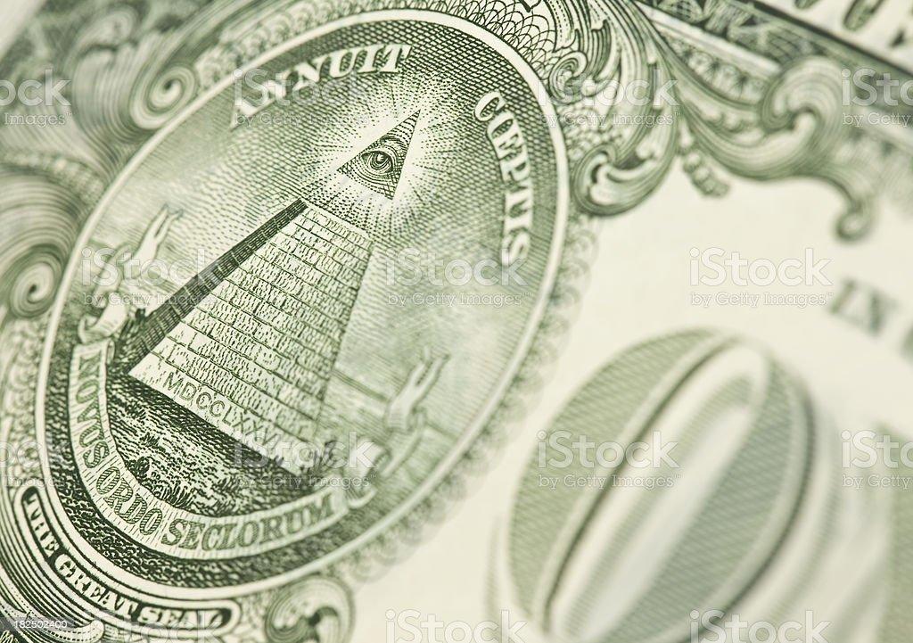 The Eye Of Providence - One Dollar Bill royalty-free stock photo