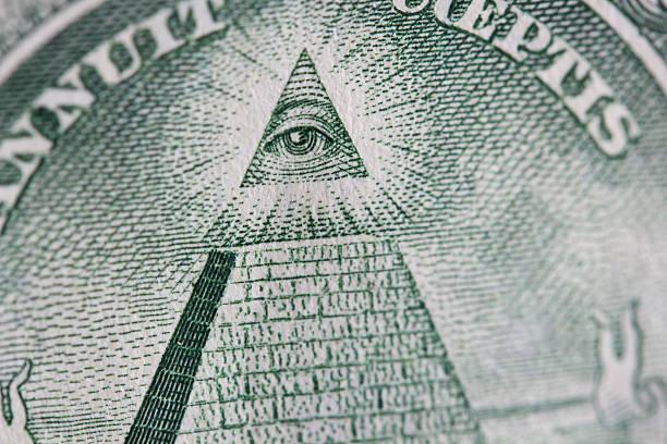 ojo de la providencia - conspiración fotografías e imágenes de stock