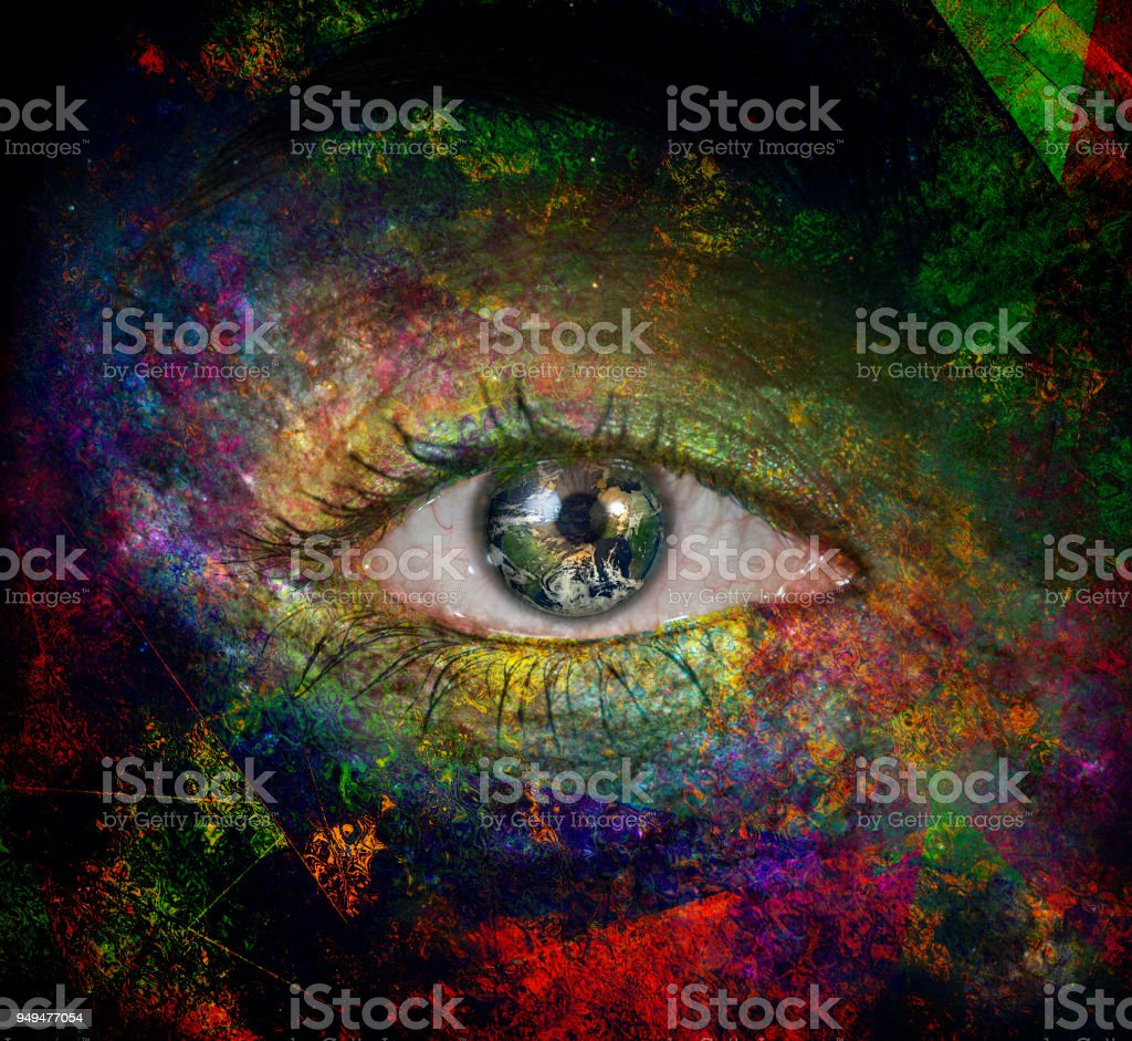 The eye of space stock photo