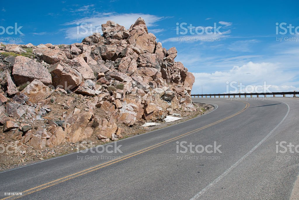 The fabulous beauty Beartooth Highway, Montana, USA stock photo