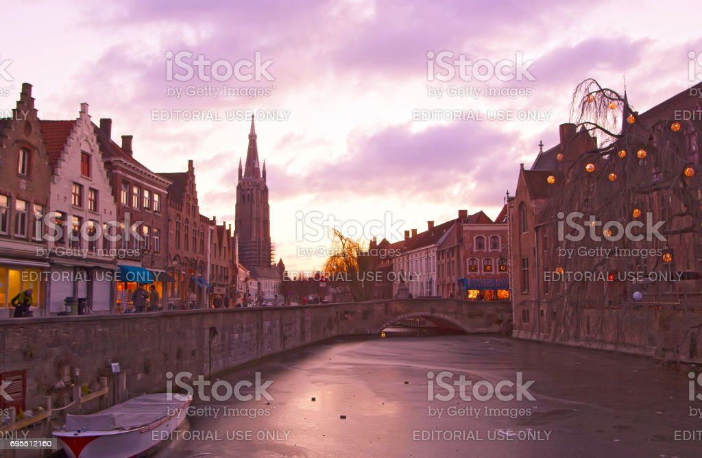 La magnifique ville médiévale de Bruges. Belgique.» n - Photo