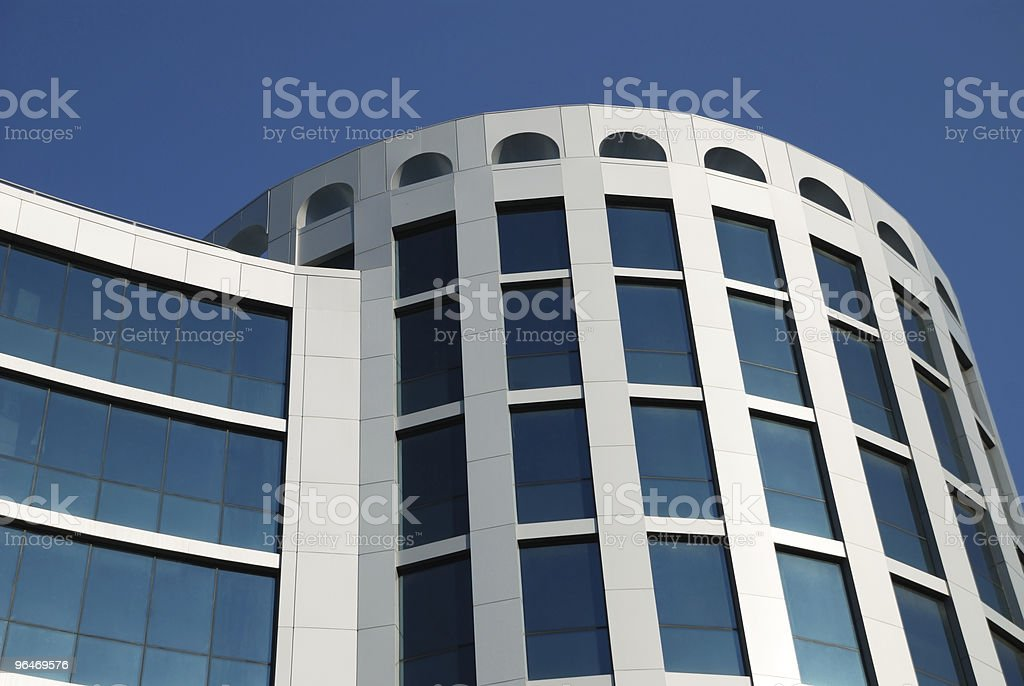The facade of a modern building royalty-free stock photo