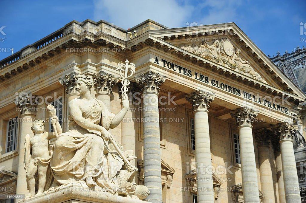 The facade of chateau de Versailles, France stock photo