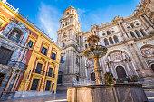 istock The facade of Malaga Cathedral 1088138062