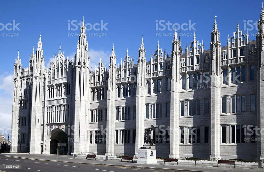 The Facade of Marischal College Building, Aberdeen stock photo