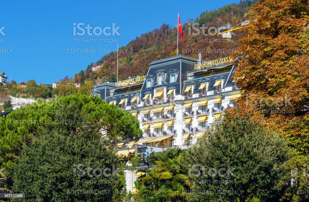 La façade du Montreux Palace hotel - Photo
