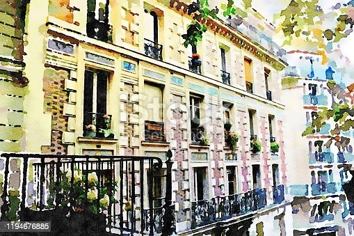 istock the facade of one of the historic buildings in the Montmartre district of Paris in the autumn 1194676885