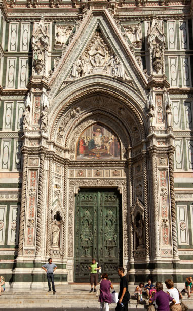 the facade of the Cathedral of Santa Maria del Fiore in Florence. Italy