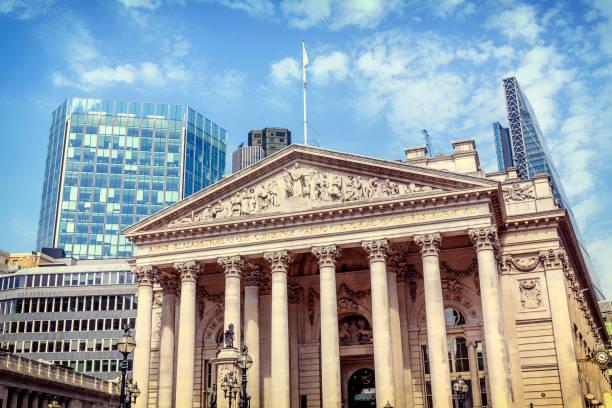 La fachada del cambio real en la ciudad de Londres - foto de stock
