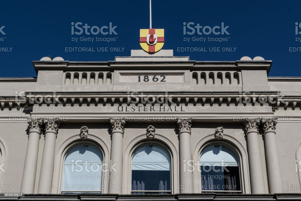 The facade of the Ulster Hall - Royalty-free 1860-1869 Stock Photo