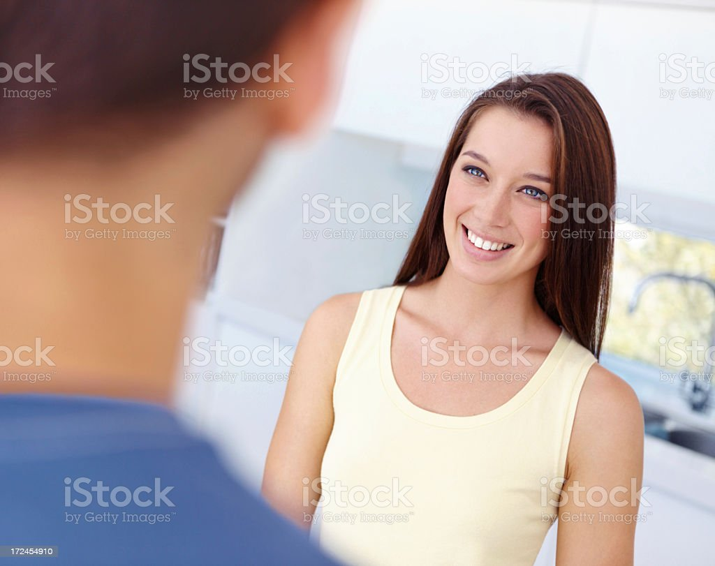 The face of a happy woman royalty-free stock photo