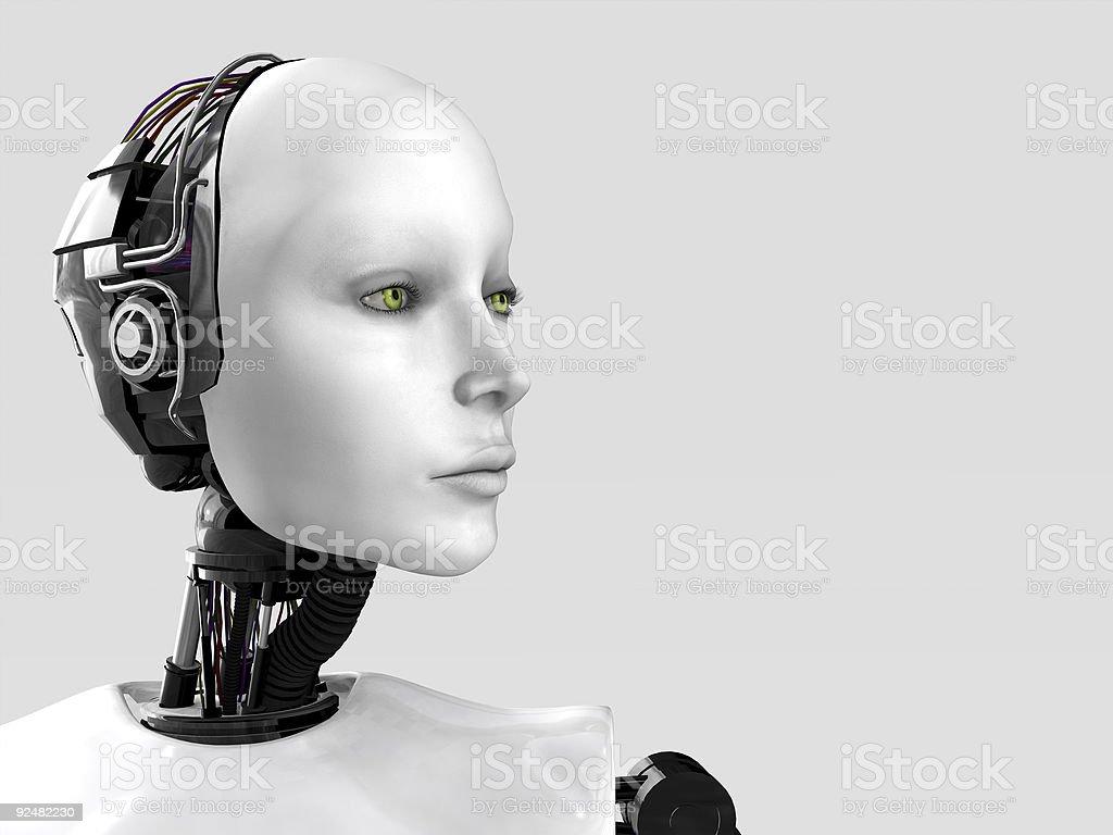Das Gesicht eines Roboter Frau. Lizenzfreies stock-foto