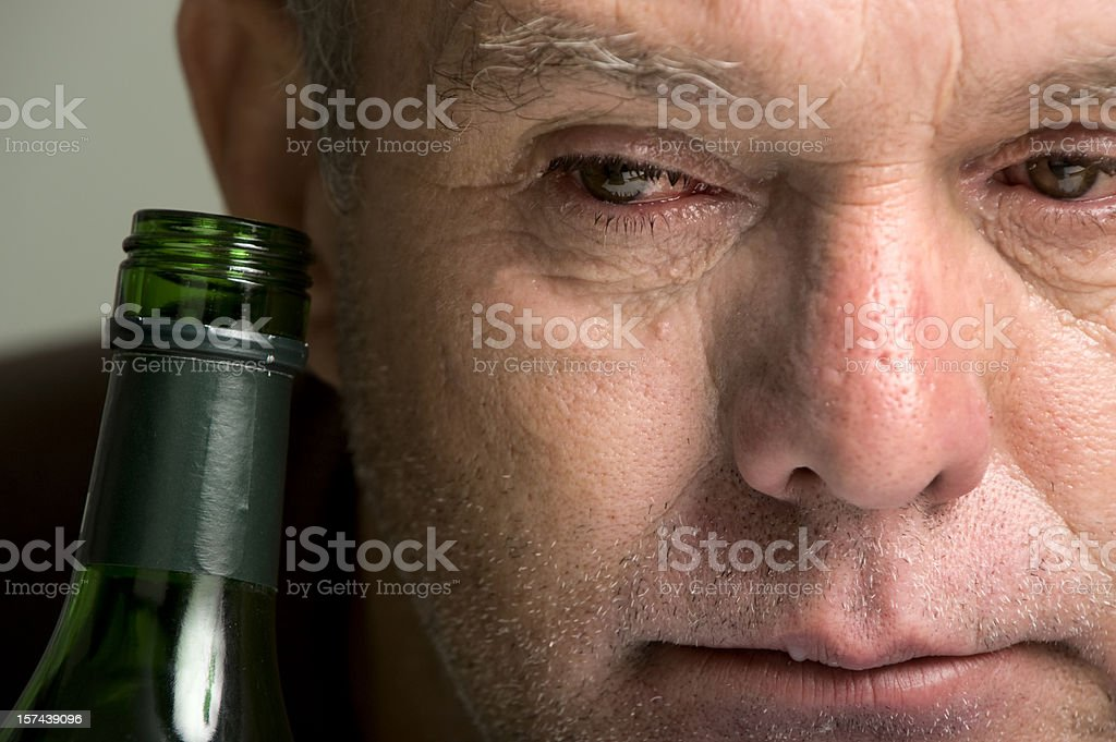 The Face of Alcoholism. royalty-free stock photo