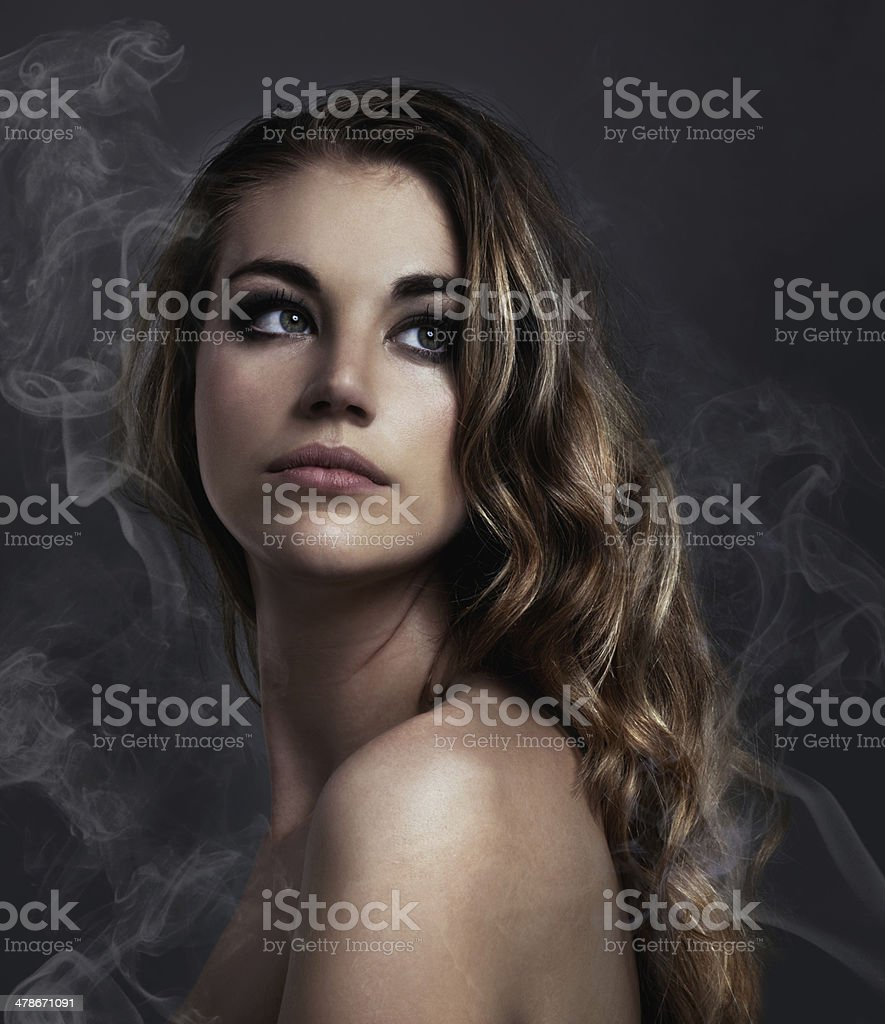 The face of Beauty stock photo
