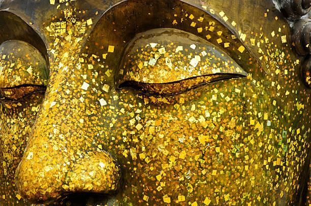 Gesicht der Bronze-Buddha. – Foto