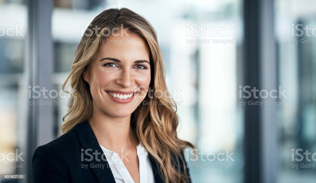 The face of corporate excellence stock photo
