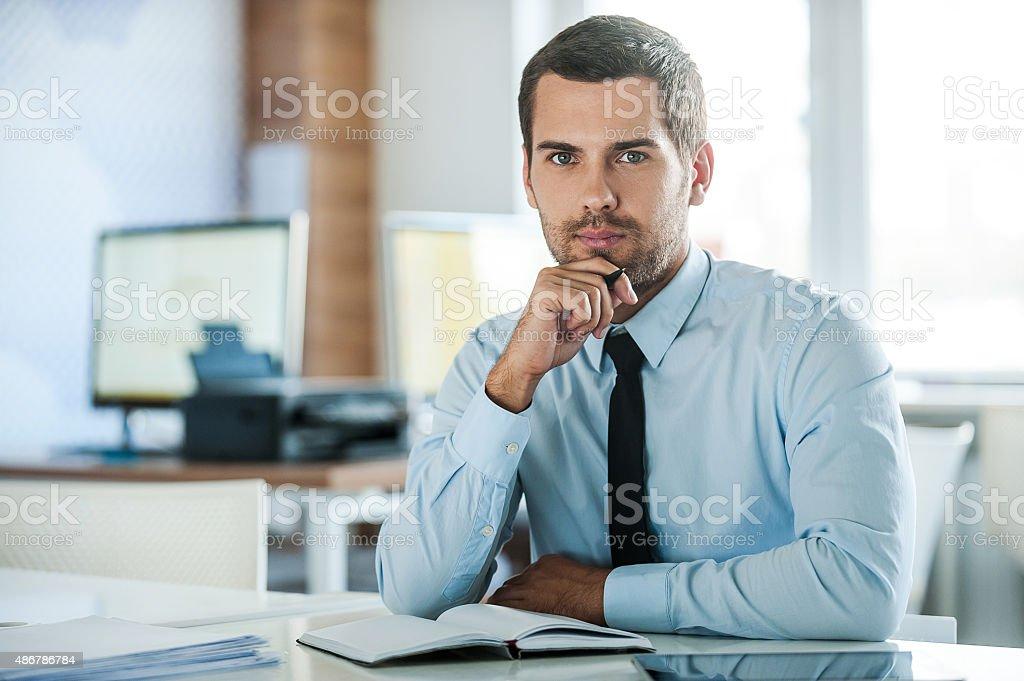 The face of plenary leadership. stock photo