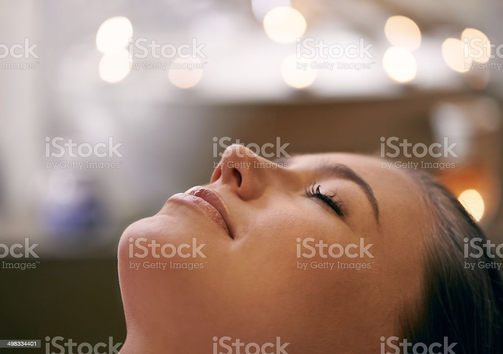 The face of relaxation stock photo