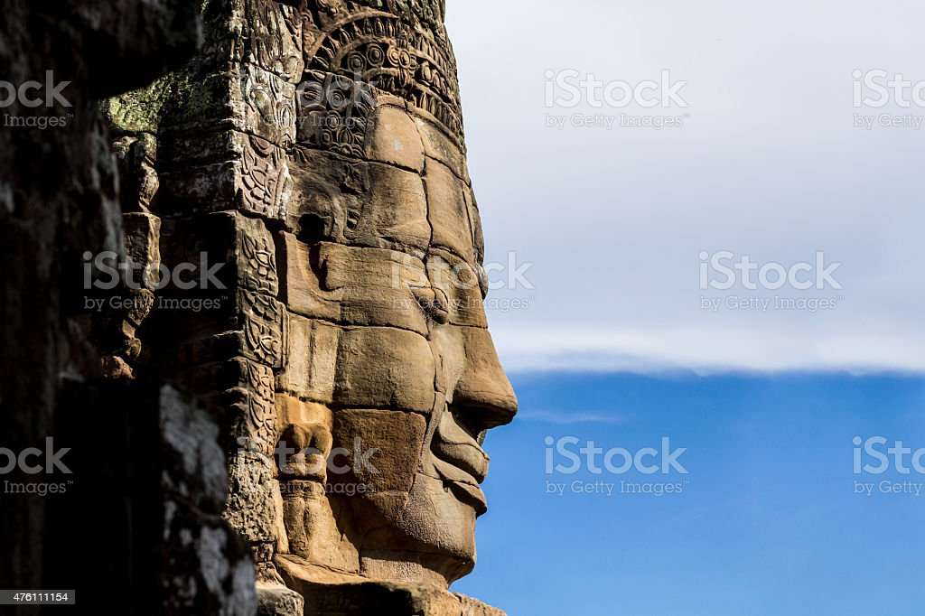 The face of the Buddha stock photo