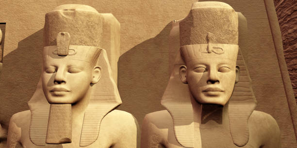 The Faces of Abu Simbel stock photo