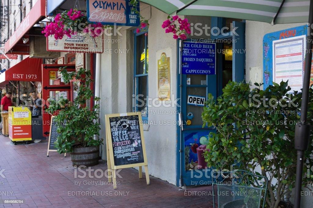 Die Faktoren gehen, Savannah, Georgia Lizenzfreies stock-foto